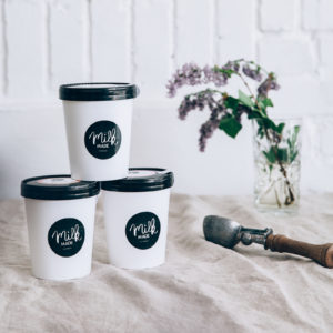 Großer Becher à 500ml von Milk Made Ice Cream